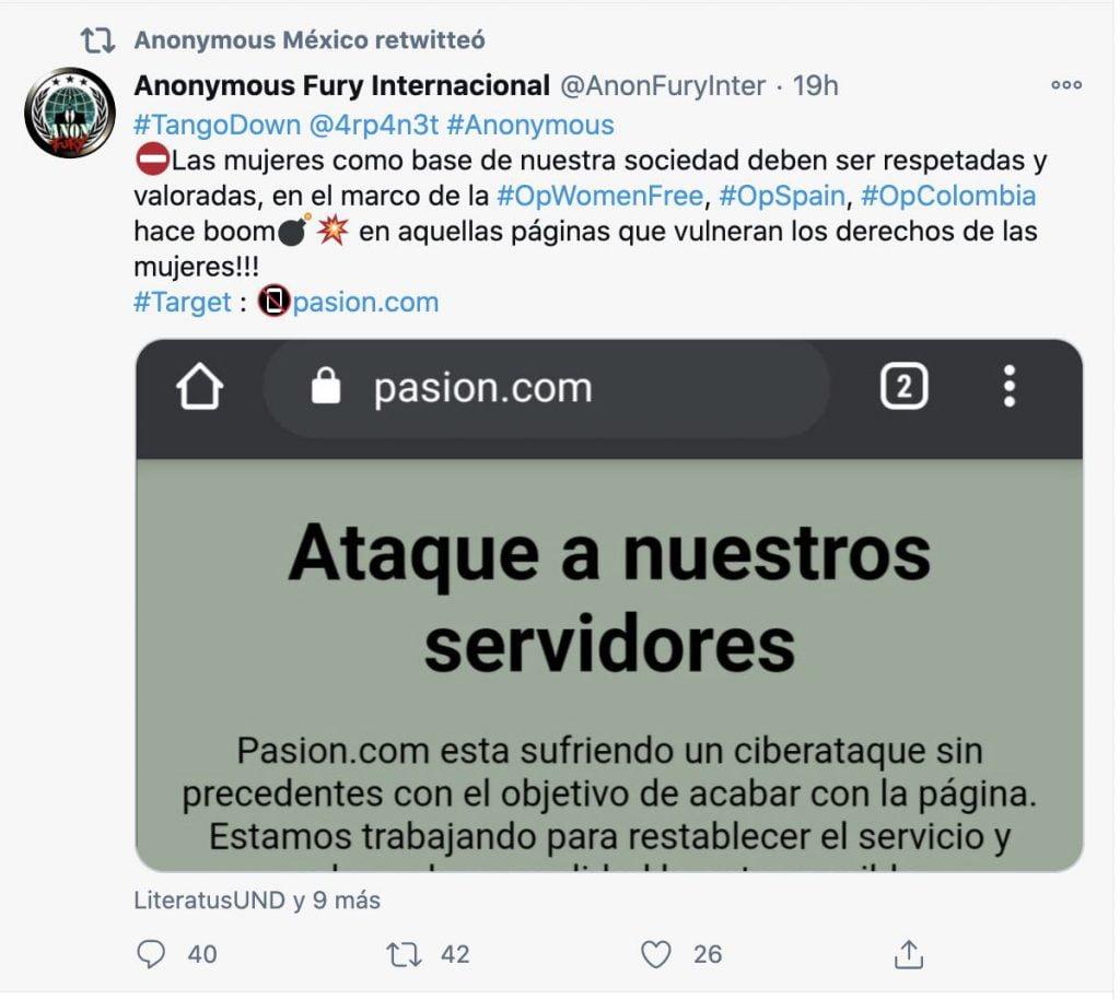 ataque a pasion.com